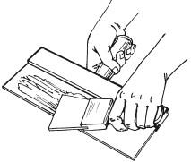 Рис.34. Распределение шпаклевки по шпателю