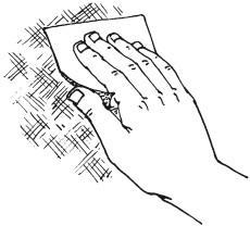 Рис.40. Шлифовка поверхности наждачной бумагой
