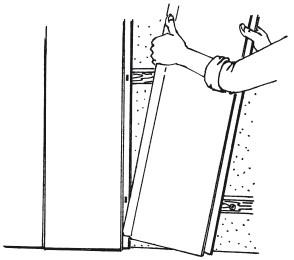 Рис.63. Установка последующих панелей