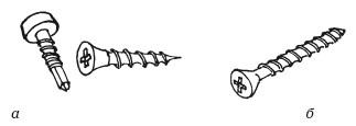 Рис.72. Саморезы и шуруп