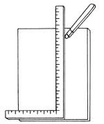 Рис.81. Использование уголка при разметке плитки