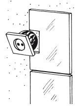 Рис.88. Облицовка стены с электрической розеткой