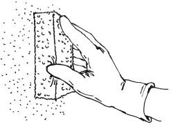 Рис.110. Лессировка с использованием губки