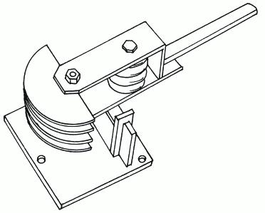 Рисунок 38. Модель ручного трубогиба