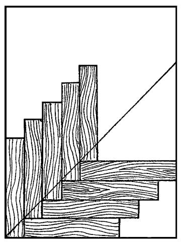 Рис. 28. Укладка «маячной елки»