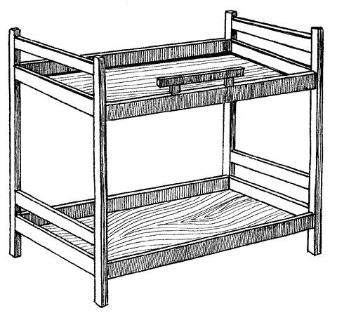 Рис. 44. Детская двухъярусная кровать