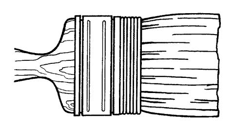 Рис. 10. Кисть с обмоткой