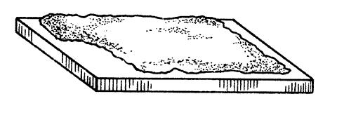 Рис. 21. Укладка раствора на тыльной стороне плитки