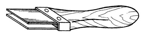 Рис. 22. Приспособление для отламывания плиток