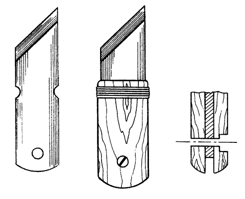 Рис. 32. Нож для резки линолеума