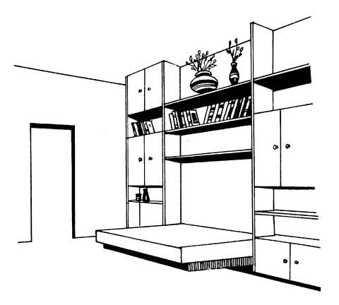 Рис. 43. Встроенная мебель