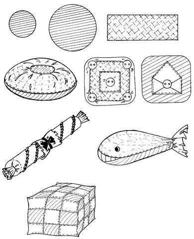 Рис. 70. Игрушки-подушки (окончание)