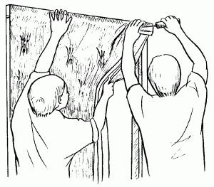 Установка шторы