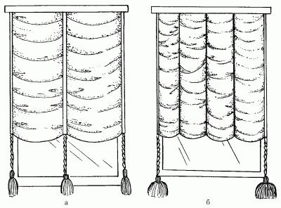 Изготовление драпированных жалюзи с подвижными кулисками