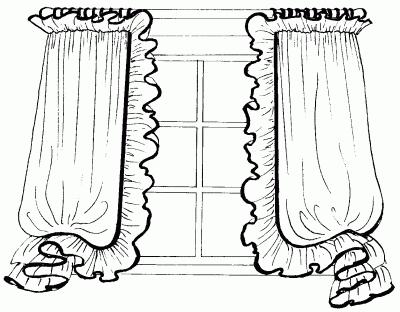 Оформление краев драпировки оборками