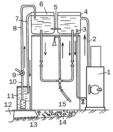 Горячий душ с водотрубным нагревателем