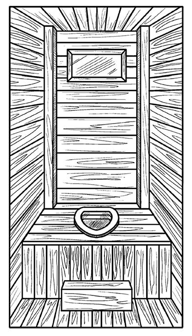 Каркасный деревянный туалет
