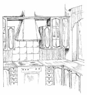 Кухня в стиле «Фолк»