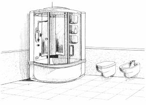 Гидросауна, душевая кабинка, гидродуш