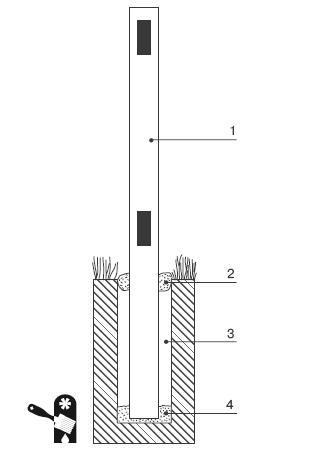 Установка столба из трубы