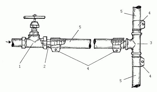 Водопровод из резиновых шлангов