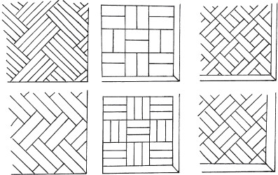 Рис. 20. Рисунки для укладки паркета