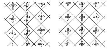 Рис. 25. Совмещение рисунка на обоях: а) неправильное; б) правильное