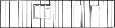 Рис. 26. Развернутая поверхность стен, оклеиваемых обоями