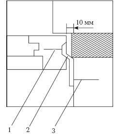 Рис. 44. Установка деревянного окна с использованием монтажной пластины: 1 – шуруп для дерева; 2 – монтажная пластина; 3 – дюбель