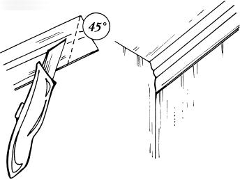Монтирование потолочных карнизов и плинтусов
