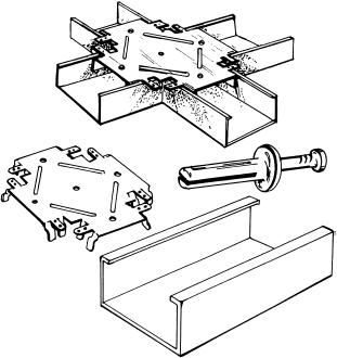 Устройство металлического каркаса для монтажа гипсокартонных панелей