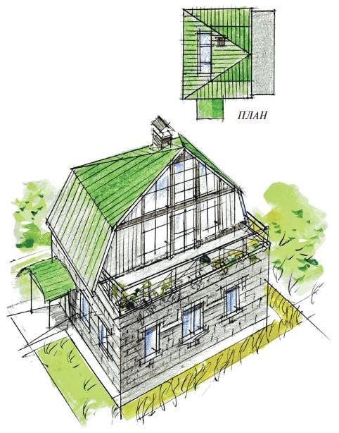 Мансарда – дополнительная площадь жилого дома