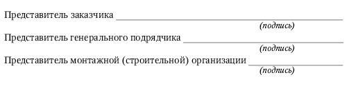 Приложение 9.  Акт гидростатического или манометрического испытания на герметичность
