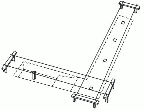Рисунок 2. Разметка ленточного фундамента