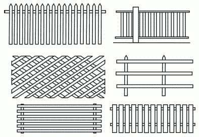 Рисунок 4. Разновидности штакетника