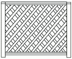 Рисунок 6. Забор-решетка