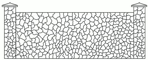 Рис. 26. Забор из песчаника