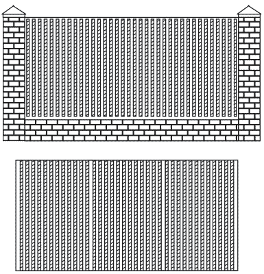 Рис. 28. Виды заборов из профнастила