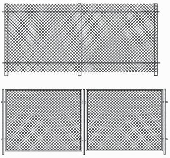 Рисунок 29. Виды забора из сетки-рабицы
