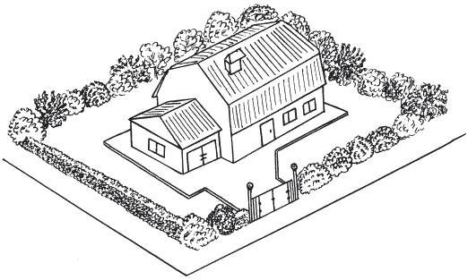 Рисунок 31. Пример живой изгороди