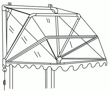Рисунок 59. Готовый корзиночный навес