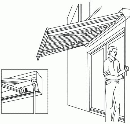 Рисунок 61. Рулонный навес в разложенном состоянии