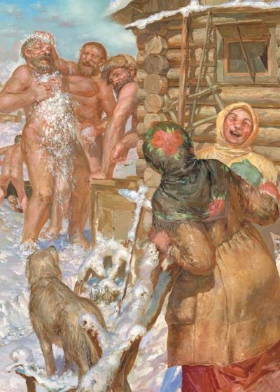 Рис. 1. Семейная баня в России никогда редкостью не была
