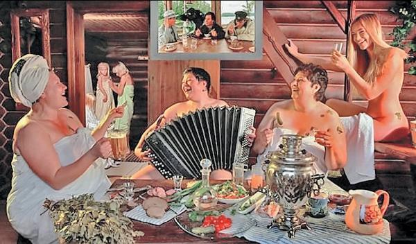 Фото 1.15. Особый, чуть ли не ритуальный смысл имеет баня и в наши дни