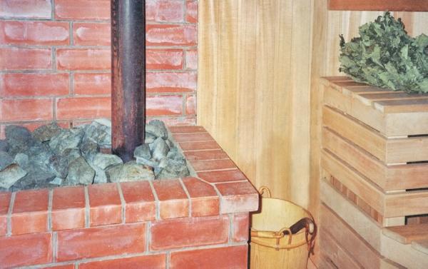 Фото 2.2. Металлическая печь окружена кирпичной кладкой