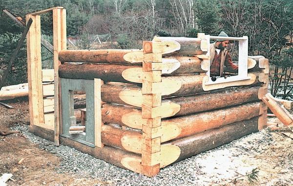 Фото 3.6.3. Сруб традиционной рубленой бани
