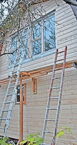 Фото 5.3.6.9. Почти готовый новый фронтон с новым оконным блоком