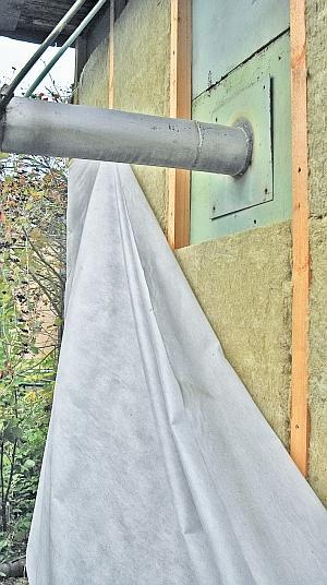 Фото 5.3.7.7. Аналогичную процедуру следует провести и на наружном, выходящем из стены участке трубы