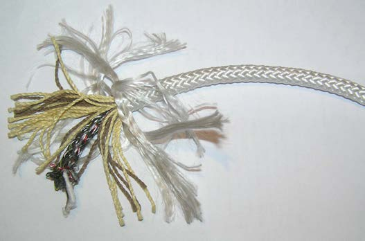 Рис.1.3. Внешний вид веревки на основе полипропилена в расплетенном состоянии