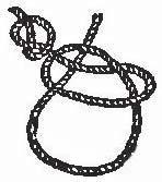 Рис.2.10. Практичный узел «двойная петля с фиксатором»